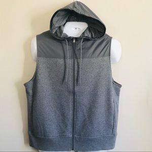 Michael Kors Men's Gray Hoodie Vest Size L